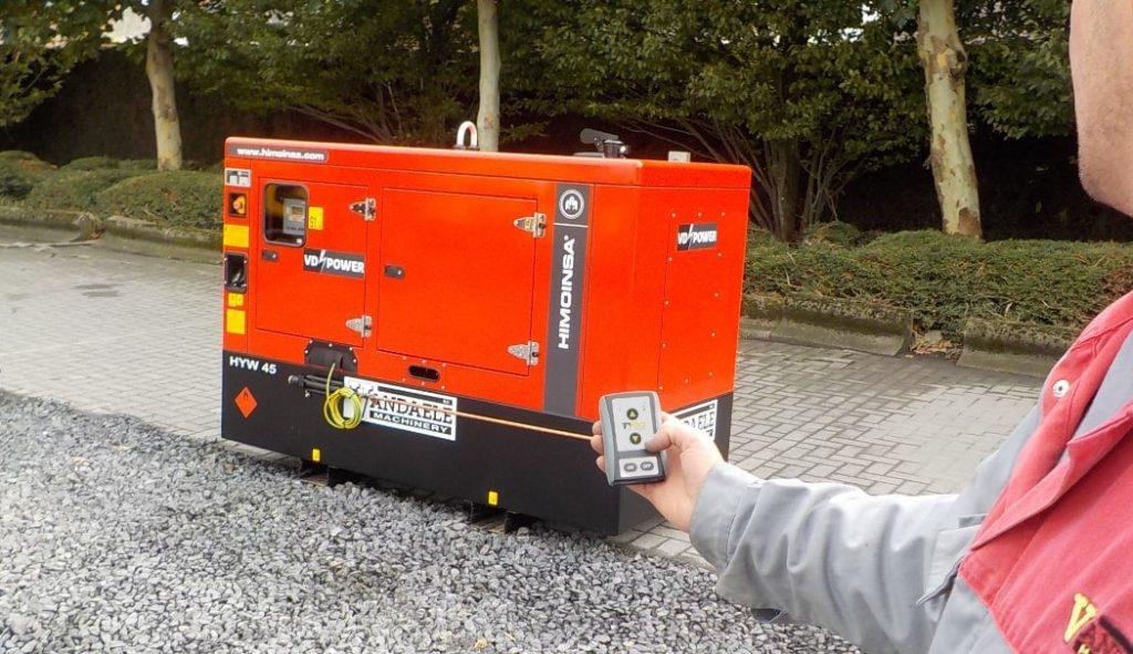 Fjärrkontroll med mottagare till generator